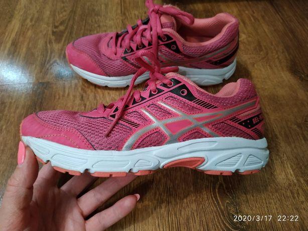 Фирменные кроссовки asics 34-34,5 на стопу 21-21.5 см