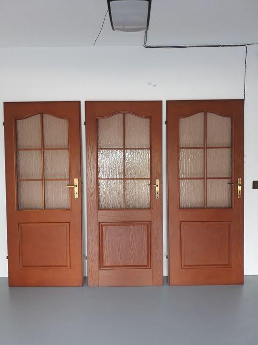 Drzwi wewnętrzne 80 i 70 wraz z klamką... Mokobody - image 1