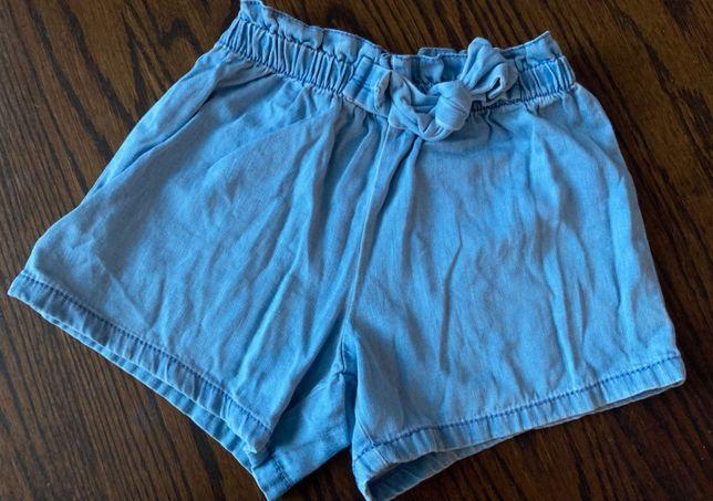 Next, jasny dżins, szorty z kokarda, 110-116, 5-6 lat