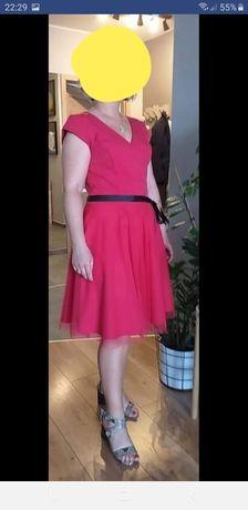 Sukienka malina fuksja rozmiar 38 Ella Boutique