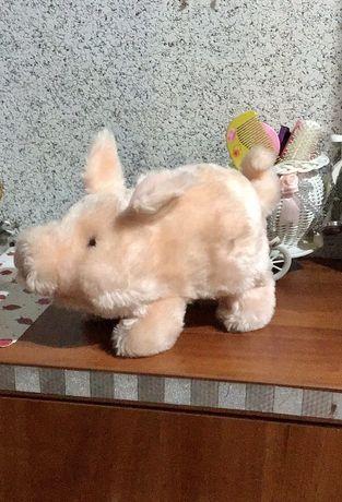 Порося свиня іграшка інтерактивна хрюкає і бігає прикольна :)