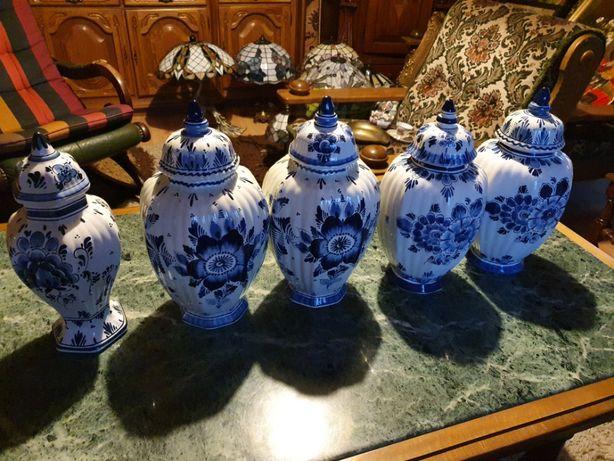 Zabytkowa wazy porcelanowe Delfts