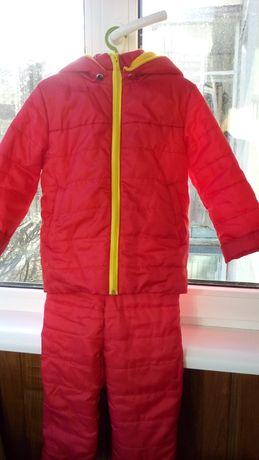 Демисезонный раздельный комбинезон- комплект( куртка, полукомбез)