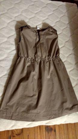Sukienka ciążowa, jasny brąz, rozmiar 34, stan bardzo dobry