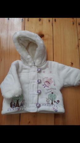 Зимняя Куртка шубка 0-4мес