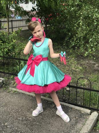 Платье пышное плаття сукня стиляги 122-128