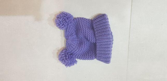 Fioletowa czapka 2- 3 latka