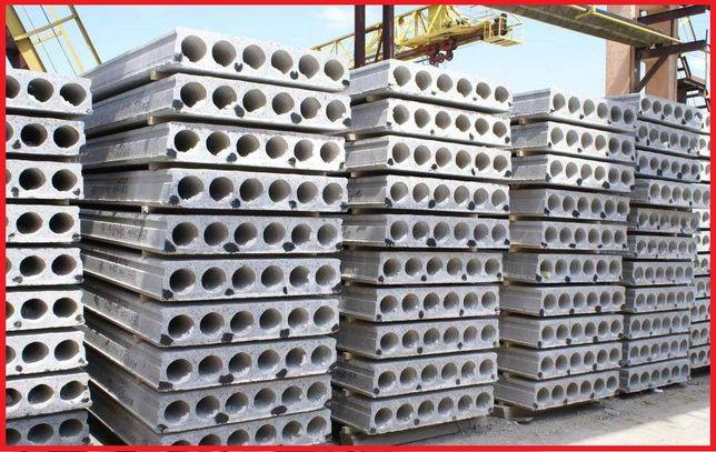 Плити перекриття ПК, ПБ, пустотні панелі перекриття, плиты перекрытия