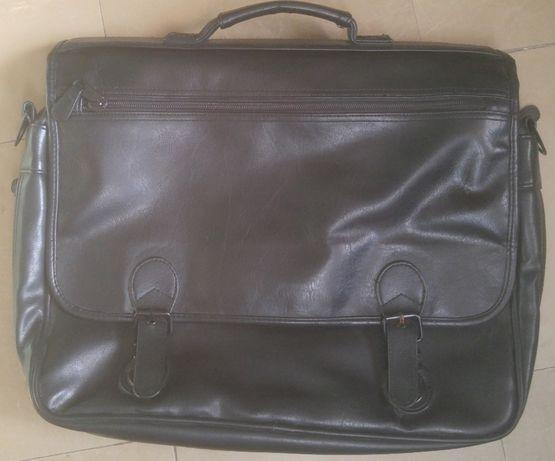 портфель-сумка деловой 42х34х10-20см кожзам