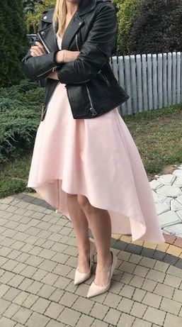Wyjątkowa sukienka, pudrowy róż, rozmiar 34