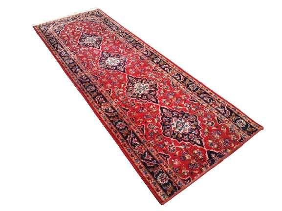 Perski Keshan Szeroki Chodnik Wełniany Ręcznie Tkany Iran Dywan