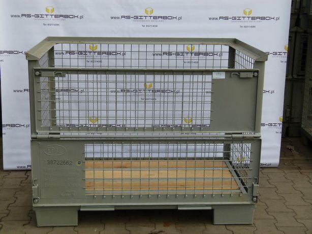 Gitterbox Giterbox EPAL UIC UJC paleta metalowa opakowanie kosz