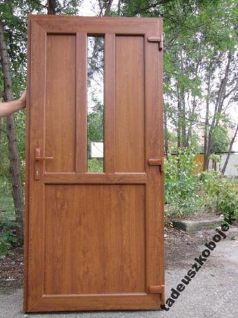 Drzwi zewnętrzne PCV PVC kompozytowe XPS Złoty Dąb KALISZ