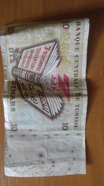 Продам 1 купюру 10 тунисских динаров.