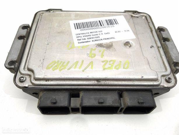 0281011529 Centralina do motor OPEL VIVARO A Van (X83) 1.9 DTI (F7)
