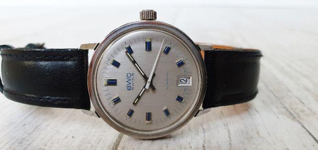 Szwajcarski zegarek mechaniczny BWC ciekawa tarcza