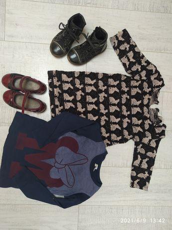 Sukienka bluzka buciki zestaw dla dziewczynki 104 lasocki naturino