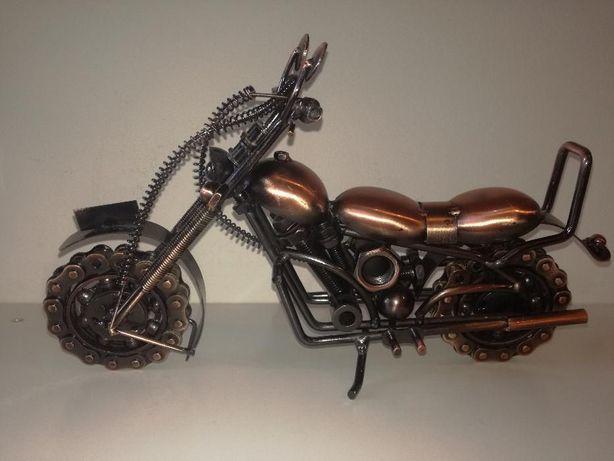 Motorek, ozdoba ręcznie robiony.