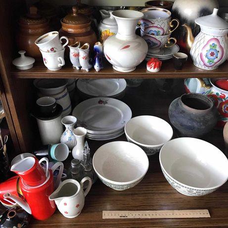 Посуда керамика вазы чашки кувшины блюдца