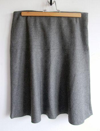 Szara spódnica Massimo Dutti z wełną r. 40