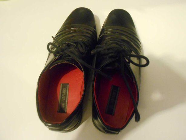 Buty czarne skórzane wyjściowe
