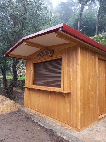 quiosque de madeira