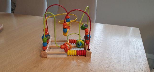 Drewniana zabawka edukacyjna, liczydło
