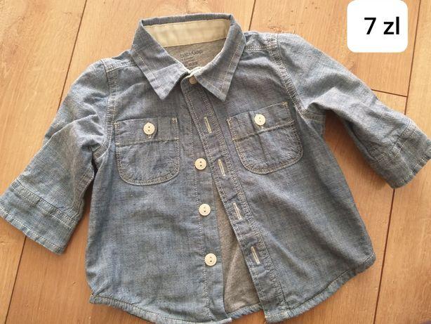 Koszula jeans chlopiec 3-6 mcy