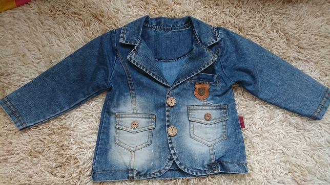 Стильний джинсовий піджак 12-18міс джинсовый пиджак джинсова джинсовая