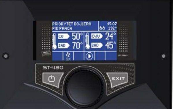 Sterownik do kotła   z podajnikiem ST 480 TECH