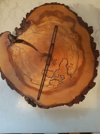 Duży piękny niepowtarzalny zegar drewniany z drewna Prezent