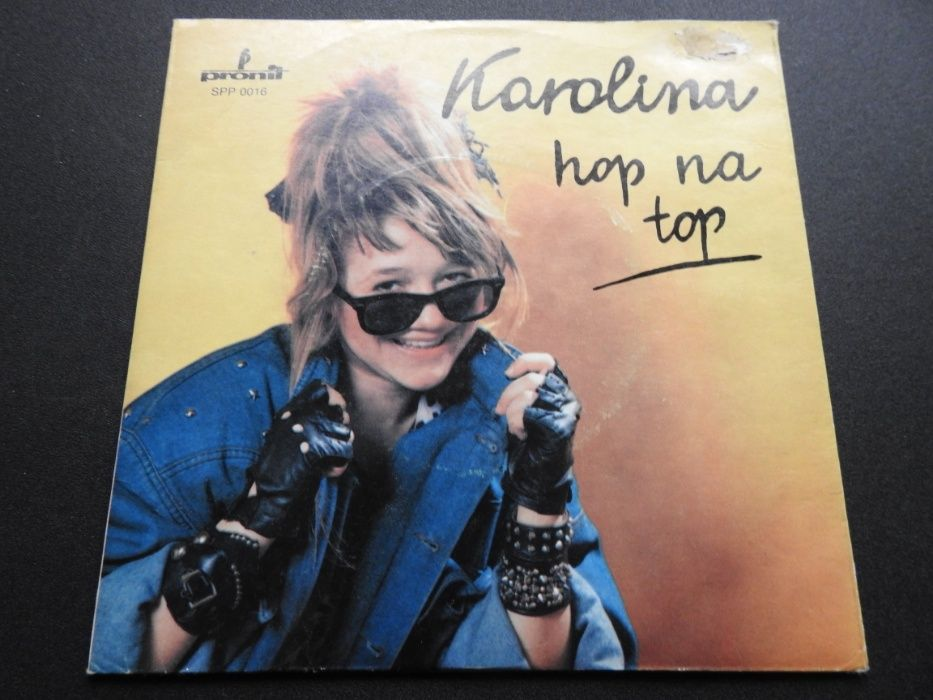 "Płyta winylowa 7"" Karolina – Hop Na Top 5 - 10 - 15. 1986 Racibórz - image 1"