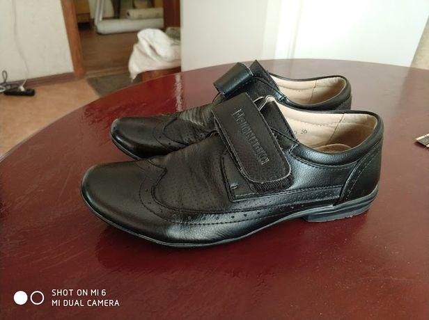 кожаные туфли Шалунишка, кожа, рубашка в подарок