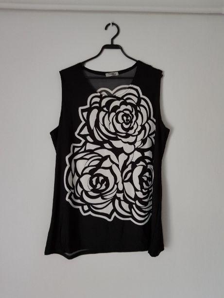 Czarno-biała bluzka z wzorkiem