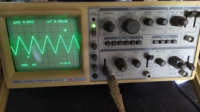 Osciloscópio analógico de 40 MHz ( dois canais )marca Promax