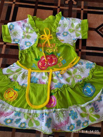 Летнее платье на девочку 3-4 лет