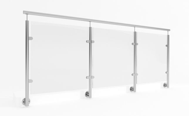 Balustrada stal nierdzewna - szkło / schodowe / balkonowe / tarasowe