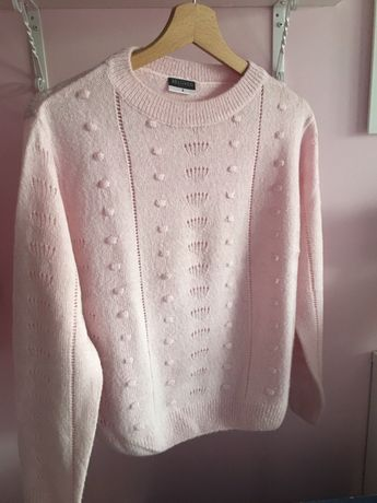 Sweter sweterek pepco rozowy pudrowy S M