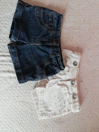 2 pak spodenek jeansowych
