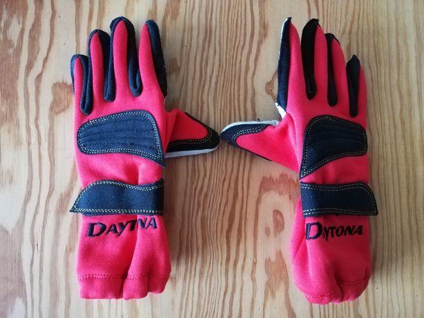 Rękawiczki damskie Daytona r. 6 skórzane ładne z wzmocnieniami