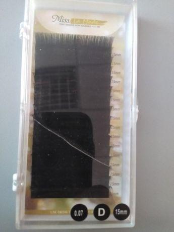 Ресницы для наращивания на ленте Miss La Mode 0,07 D 15 мм, 16 рядов