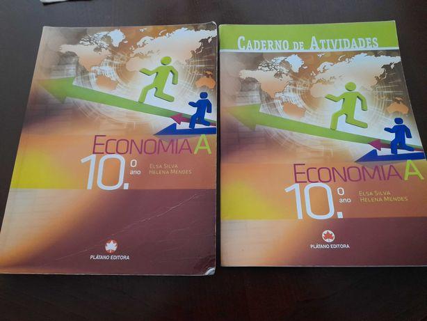 Vende-se manual Economia 10 ano + caderno de atividades