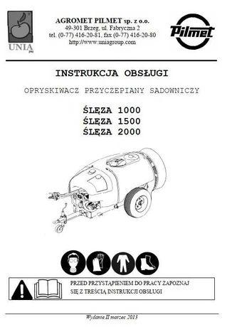 Instrukcja obsługi  opryskiwacza Ślęza 1000, 1500, 2000