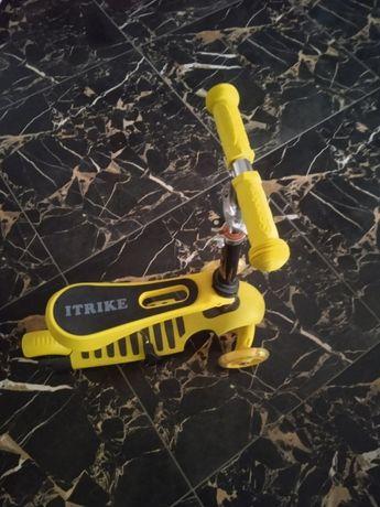 Детский самокат-беговел iTrike JR 3-054-К MAXI,3в1