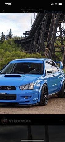 Реснички на фары Subaru Impreza