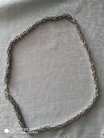 Łańcuszek wyjątkowy splot srebro 925