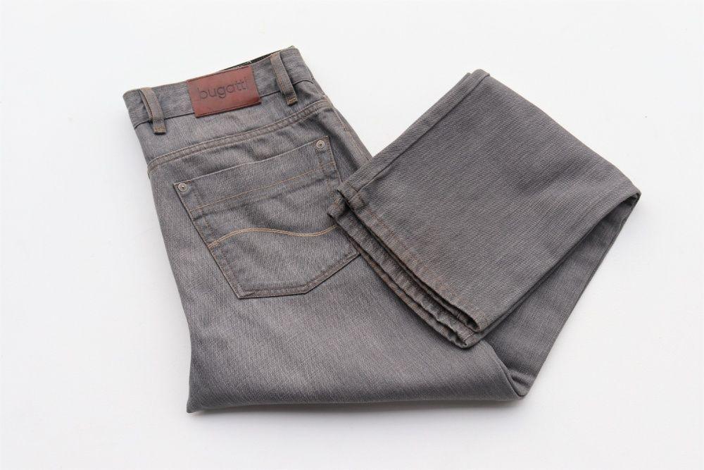 Męskie spodnie jeansowe Bugatti W34 L32 szare jeansy idealne jak nowe! Węgierska Górka - image 1