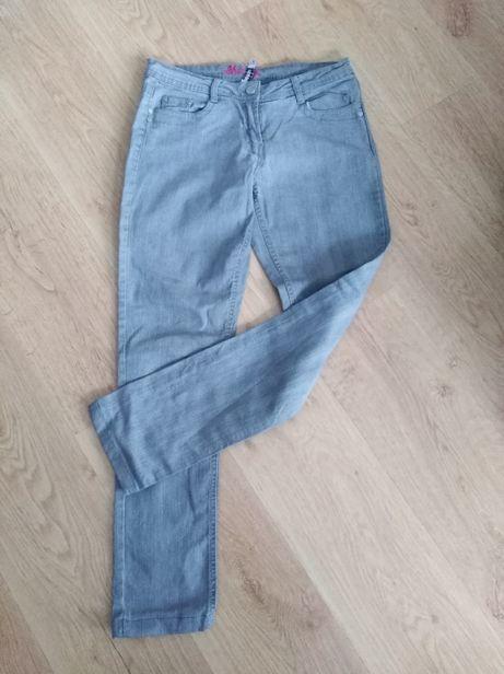 jeansy szare damskie r. 38 skinny