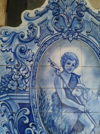 Painel de azulejo arte sacra