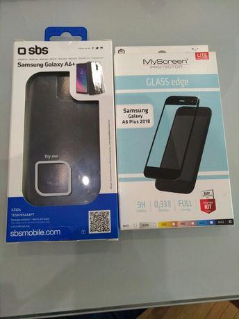 Szkło Hartowane Plus Pokrowiec Samsung Galaxy A6 Plus